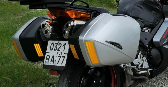 Дополнительные кофры на Honda VFR800 ABS